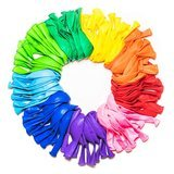 Dusico Assorted Rainbow Party Balloons